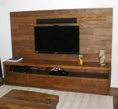 rack com painel de madeira - Pesquisa Google