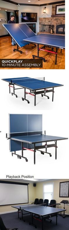 Paddles 36277 Ping Pong Table Tennis Games Portable Wheels Storage Regulation Size Indoor -u003e & NPW Desktop Ping Pong/Table Tennis Set Red/Blue | Ping pong table ...