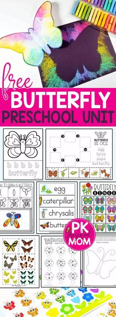 Free Butterfly Printables for Preschool