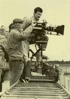 Cinematographer Sven Nykvist with Director Andrei Tarkovsky Vevey, Charlie Chaplin, The Scene Aesthetic, Everything Film, Pier Paolo Pasolini, Cinema Camera, Movie Camera, Long Shot, Film Director