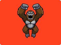 Godzilla vs. Kong - Official Animated stickers by Alex Yunak on Dribbble Arte Nerd, Godzilla Vs, King Kong, Sticker Design, Gifs, Animation, Stickers, Fictional Characters, Entertainment