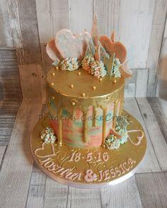 Engagement drip cake
