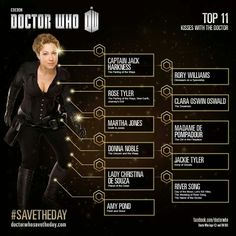 Top 11 Kisses with the Doctor