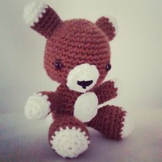 Meet Bobo, the foxxy bear. Fonkycrochet amigurumi fox bear