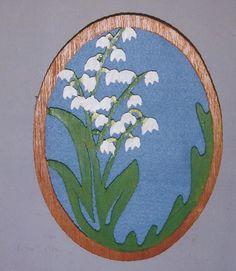 Handmade custom fret Lily of the Valley wall hanging #Handmade