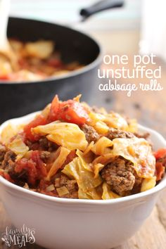 One Pot Unstuffed Cabbage Rolls --YUM-- FamilyFreshMeals.com
