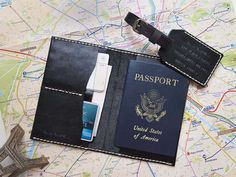 Personalized Passport Case & Double Sided Luggage Tag / harlex