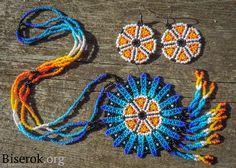 амулет и серьги collar amuleto estuli huichol