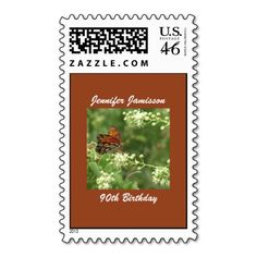 90th Birthday Butterfly Postage Stamp