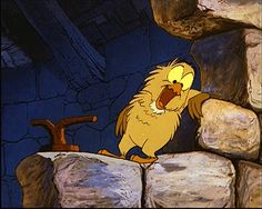 Laughing Archimedes - The sword in the stone Old Disney, Disney Love, Disney Art, Disney Stuff, Disney Films, Disney Cartoons, Disney Pixar, Disney Doodles, Cute Characters