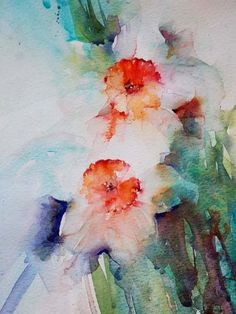 Pictures of flowers in watercolor by Jean Haines