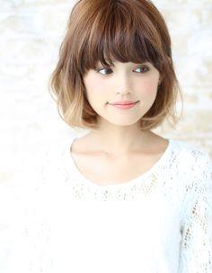 Short Curly Hair, Short Hair Cuts, Curly Hair Styles, Hairstyles With Bangs, Pretty Hairstyles, Haircuts, Medium Long Hair, Hair Game, Asian Hair