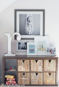 Colorful Playroom Storage | The Lilypad Cottage
