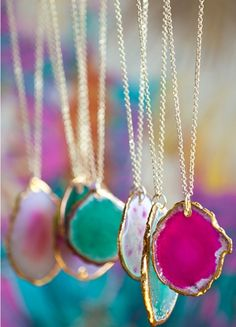 towne and reese poppy necklace. Love the bright colors and natural edges of the stone