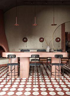 Architecture Restaurant, Luxury Restaurant, Restaurant Interior Design, Interior Architecture, Modern Restaurant, Pierre Jeanneret, Restaurant Seating, Restaurant Concept, Design Café