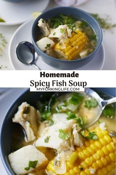 Warming and comforting, this easy fish soup recipe will feed your soul! Easy to make in one pot, this delicious soup is made with cod fish and is ready to enjoy in 30 minutes.