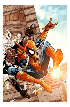 The Amazing Spider-Man // artwork by Steve McNiven and Gabriel Cassata (2012)