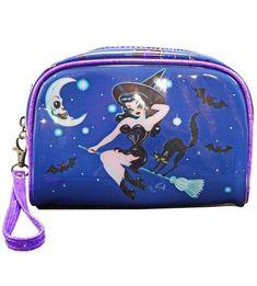 81c880b29615 Kreepsville 666 Fluff Hex Kitten Makeup Bag. Rockabilly Pin UpRetro ...