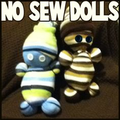 400x400 no sew dolls step How to Make Easy No Sew Sock Dolls Crafts Idea for Kids