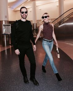 Kate Bosworth wearing our 3x1 W25 Crop Baby Boot while arriving to LAX with her husband, Michael Polish.
