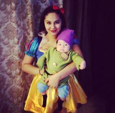 Mom & son costume dopey Snow White Halloween