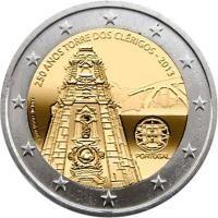 "Portugal bijzondere 2 Euromunten - Portugal 2 Euro 2013 ""Clerigos"" Piece Euro, Portugal Euro, Money Notes, Euro Coins, Valuable Coins, Foreign Coins, Gold Stock, Commemorative Coins, Gold Bullion"