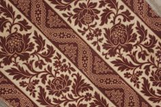Antique French Printed Cotton c1860 Madder Brown Fabric c1860 Material 19th | eBay
