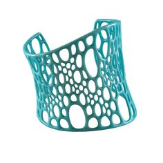3D printed turquoise Subdivision cuff