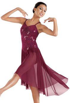 Sequin High Low Mesh Lyrical Dress | Balera™