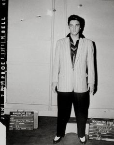 vintage everyday: Vintage Wardrobe Test Shots for Famous Movies Elvis Presley in Jailhouse Rock, 1957