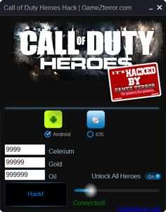 Call of Duty Heroes Hack iOS Android http://gamezterror.com/call-duty-heroes-hack-ios-android/