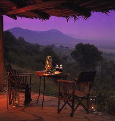 Klein's Camp, Serengeti, TZ -- they sure had a terrific photo stylist -- so African safari style.