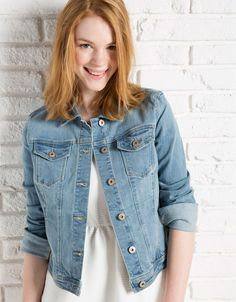 BSK denim jacket - Coats and Jackets - Bershka Greece