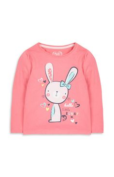 Roze trui met konijnenprint