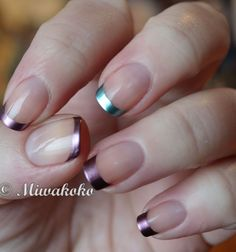 metallic tips... great idea for funky version of french tips.