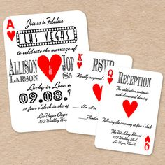 This Custom Playing Card Wedding Invitation Set Is Perfect For A Las Vegas  Wedding! Its As Easy As Print U0026 Cut, Or Take It To Your Favorite