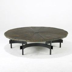 Harry Balmer; Oak and Steel Coffee Table for Flemington Iron Works, c1970.