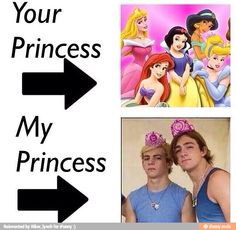 well my rolalty not princesses cause they're not girls