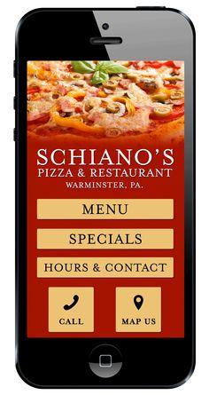 Schiano's Pizza and Restaurant mobile website!