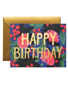 floral foil birthday card | Artsy Modern
