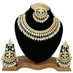 Maang Tikka Sets For Girls Wedding Designer Gold Plated 12 pieces Finekraft Kundan Bridal Indian Jewelry