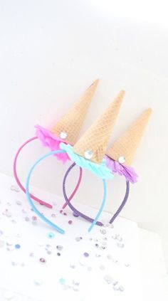 Ice Cream Party Headband/Ice Cream Shoppe/Ice Cream Party by ThePartyGirlStudio on Etsy Birthday Pins, First Birthday Parties, Birthday Party Themes, First Birthdays, Birthday Ideas, 3rd Birthday, Happy Birthday, Anniversaire Candy Land, Dinner Party Games