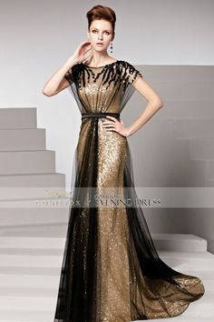 [Best Seller] Classical Elegant Gold A-line #FormalDress. It will make u the most outstanding! #2016prom #coniefox #designerpromdress #longgown #wedding #partydress