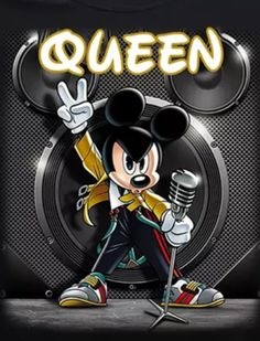 """""""Peace Out"""" Mickey Mickey And Minnie Love, Mickey And Friends, Mickey Mouse Wallpaper, Disney Wallpaper, Geeks, Queen Art, Queen Freddie Mercury, 90s Cartoons, Disney Addict"""