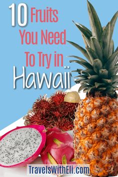 The variety of tropical fruit in Hawaii is astounding. Your Hawaii vacation won't be complete without sampling some of these exotic Hawaiian fruits. Hawaii Vacation Tips, Hawaii Travel, Usa Travel, Travel Tips, Travel Ideas, Beach Vacations, How To Grow Bananas, Hawaiian Names, Fruit Stands