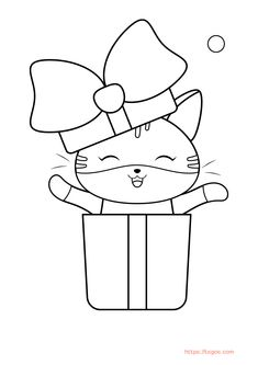 Happy Cute Cat Coloring Page For Kids Cat Coloring Page, Coloring Apps, Coloring Pages For Kids, Adult Coloring, Christmas Unicorn, Unicorn Halloween, Halloween Books, Instagram Logo, Lol Dolls