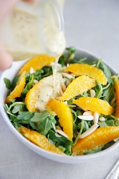 Arugula Salad with Mint Chia Dressing inspired from a recent trip to Round Hill Jamaica   Lexi's Clean Kitchen