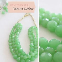 Seems to be a little too much work but if I have extra time on my hands someday.. How To Make a Statement Necklace
