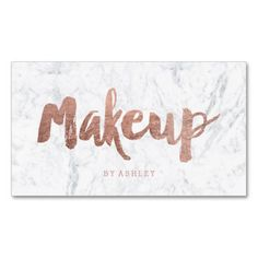 Modern faux rose gold foil typography on marble makeup artist modern faux rose gold foil typography on marble makeup artist business cards httpzazzlemakeupartistmo girly cosmetology business cards colourmoves