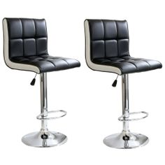 AmeriHome 2-tone Padded Bar Stool (Set of 2) | Overstock.com Shopping - The Best Deals on Bar Stools